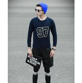Geometric Style Men Fashion Sweatshirt 1447a