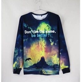 3 D Print Fashion Men Women Couple Sweatshirt 1448