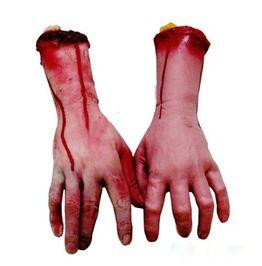Dead Human Hand Arm Blood Halloween