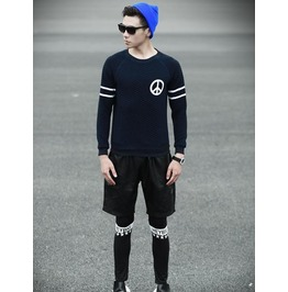 Geometric Style Men Fashion Sweatshirt 1449a