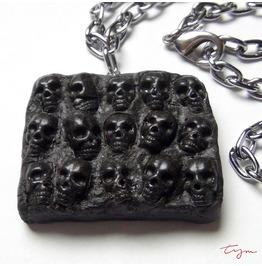 Wall Skulls Pendant Necklace