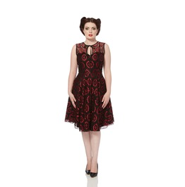 Voodoo Vixen Club Retro Lace Flare Dress