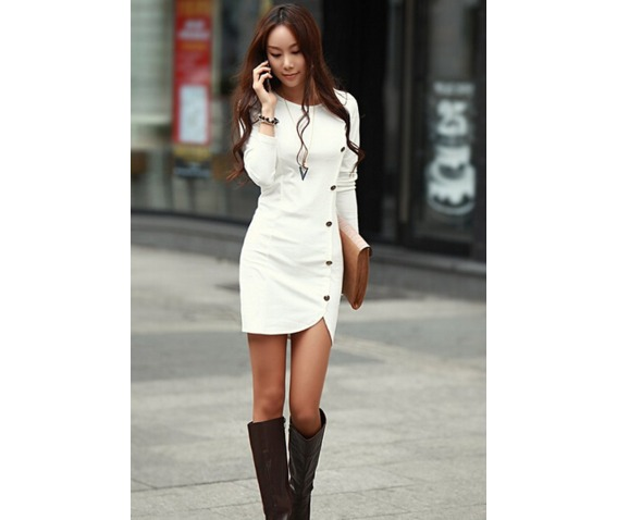 slim_fit_side_buttons_decorate_short_white_dress_dresses_5.PNG