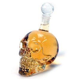 500 Ml Skull Designed Glass Bottle