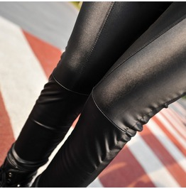 Black Brown Ankle Length Solid Leggings