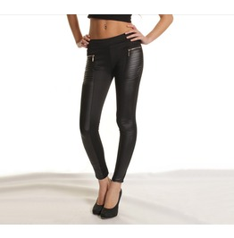 Casual Style Ankle Length Black Solid Leggings