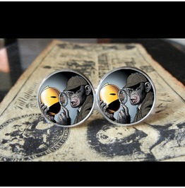 Detective Chimp Dc *New* Cuff Links Men, Weddings,Grooms, Groomsmen,Gifts,Dads,Graduations
