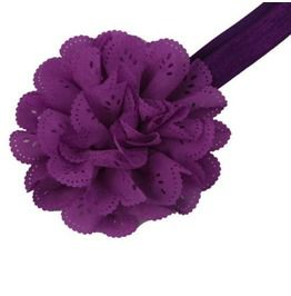 Awesome Mauve Flower Hair Band Small
