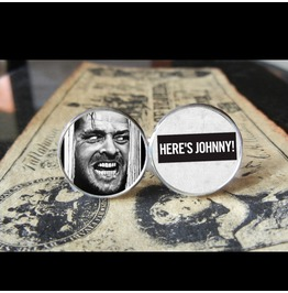 Shining Here's Johnny *New* Cuff Links Men, Weddings,Grooms, Groomsmen,Gifts,Dads,Graduations