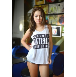 Parental Advisory Explicit Content Label Tank Top Fashion Womens Clothing
