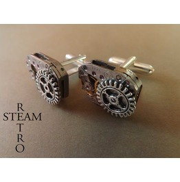 10% Code:Xmas14 Steampunk Gear Cufflinks Steampunk Accessories Mens Steampunk Wedding Cufflinks Cuff Links