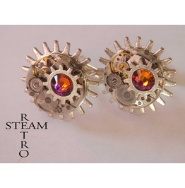 10% Code:Xmas14 Steampunk Volcano Cufflinks Mens Cufflinks Steampunk Jewelry Steamretro Cufflinks Steampunk Jewellery