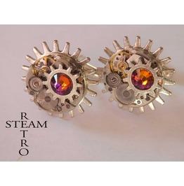 10% Code:Xmas14 Steampunk Volcano Cufflinks Mens Cufflinks Steampunk Jewelry Steamretro Cufflinks Steampunk Jewellery