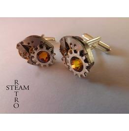 10% Code:Xmas14 Badass Geared Steampunk Cufflinks Mens Cufflinks Steampunk Accessories Wedding Cufflinks
