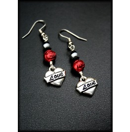 Red Roses Love Earrings