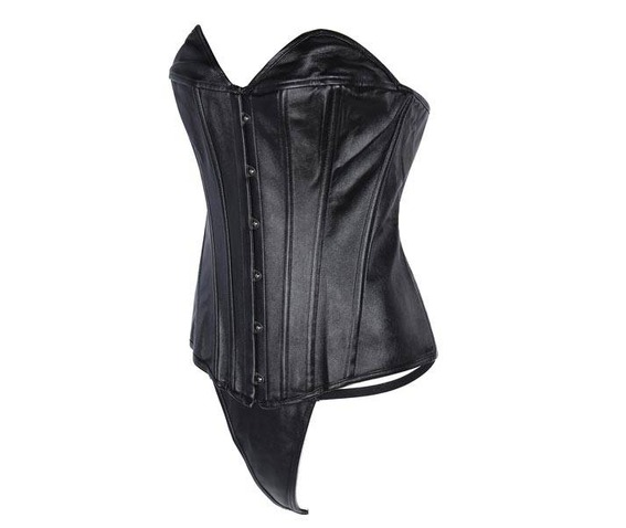 regular_plus_size_black_faux_leather_overbust_corset_bustiers_and_corsets_9.jpg