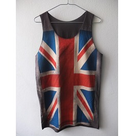 Uk British Union Jack Flag Punk Rock Metal T Shirt Tank Top