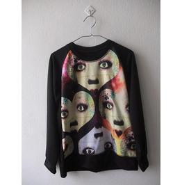 Eyes Retro Pop Rock Fashion Sweatshirt