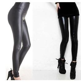 Shiny Metallic Stretchy Leather Leggings