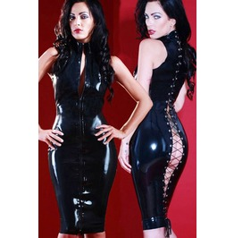 Wet_look_faux_leather_cat_suit_dress_nude_corseting_ae_1048644_butt_naked_bum_booty__latex_vinyl_and_pvc_3