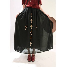 Golden Cross Long Skirt
