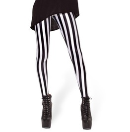 Black/White Striped Leggings