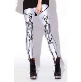 The anatomist negative skeleton printed leggings leggings 6