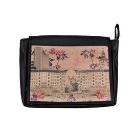 "Messenger Style Satchel Bag ""Freshman"" Silencio Print"