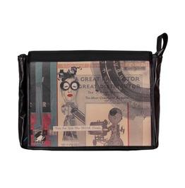 """Messenger Style Bag """"Student"""" Lala Print"""
