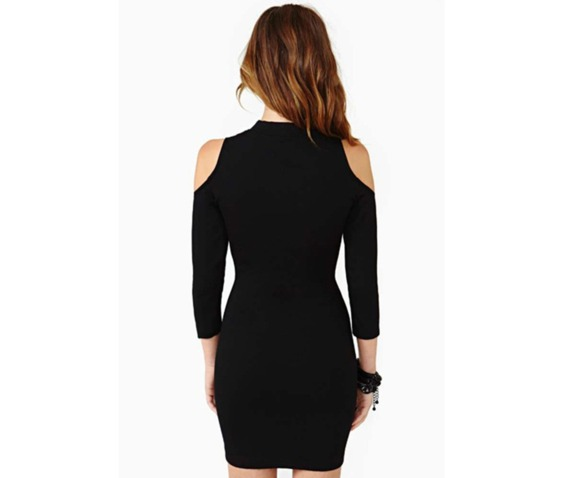 sexy_cut_shoulder_slim_fit_black_short_dress_dresses_3.PNG