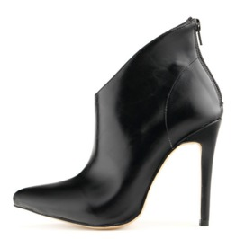 Stylish Back Zipper Thin High Heel Ankle Boots