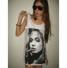 Angelina Jolie Brad Pitt Movie Star Graphic Tee T Shirt Tank Top M
