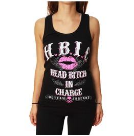H.B.I.C. (Head Bitch Charge) Black Tank Top