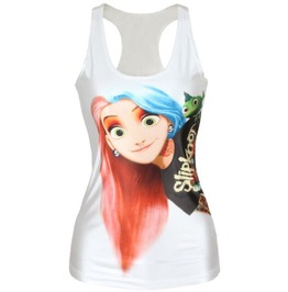 Slipknot Fan Disney Princess Rapunzel Graphic Camisole/Tank Top