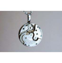 Steampunk Bdsm Jewelry Necklace Antique Vintage Luxury Watch Wedding Birthday Anniversary Gift Man Woman Unisex Silver Plated