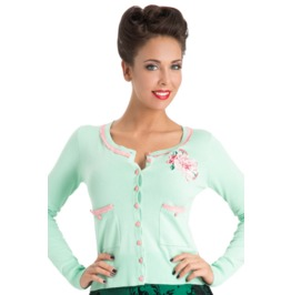 Voodoo Vixen Seafoam Dream Peppermint Cardigan