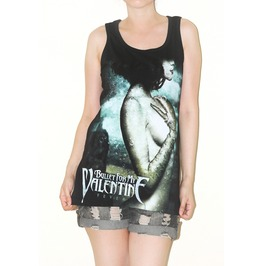 Bullet Valentine Black Tank Top Rock Size M