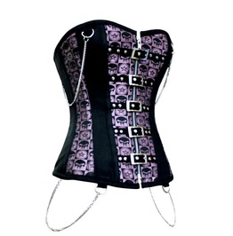 Purple Gothic Corset Chain Details S Xl