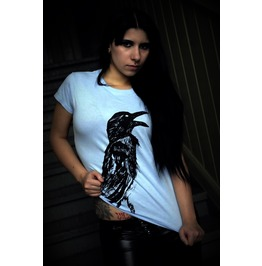 Crow women shirt light blue t shirts 2