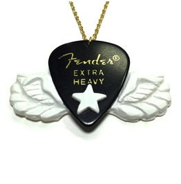 Hard Rock Angel Fender Guitar Pick Necklace