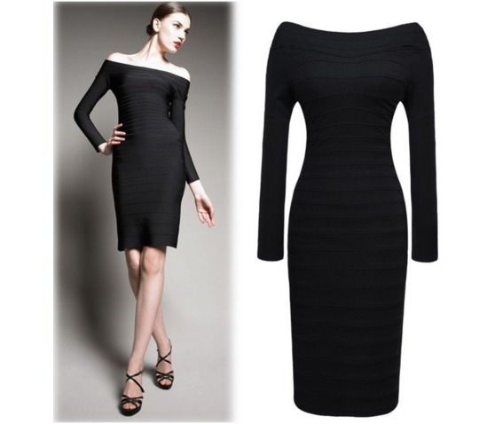 stylish_off_shoulder_slim_fit_black_dress_dresses_5.PNG
