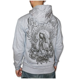 """Angel's Pray"" Zip Hoodie Wax. High Quality, Super Heavyweight Zip Hoodie, Embroidery/Printed."