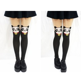Kawaii Panda Face Bell Thigh High Tights/ Pantyhose