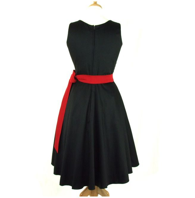 Black Full Circle Pinup Dress Rebelsmarket