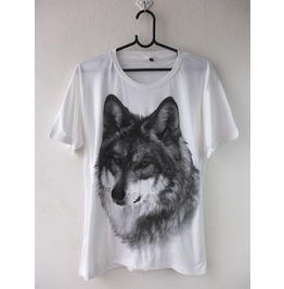 Wolf Tiger Animal Wave Punk Rock Fashion T Shirt M