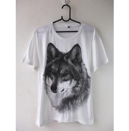 Wolf Tiger Animal Wave Punk Rock Fashion T Shirt M