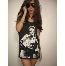 Johnny Cash Country Blue Rock Fashion Tank Top M