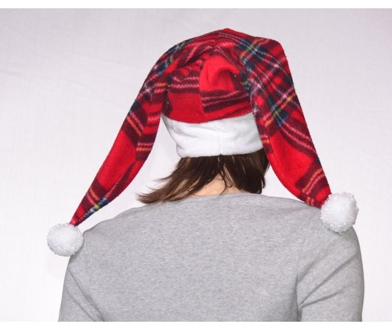 two_pointed_plaid_santa_hat_christmas_harlequin_cap_pompoms_faux_fur_headband_hats_and_caps_5.JPG