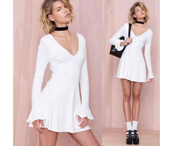 casual_long_sleeves_white_short_dress_dresses_6.PNG