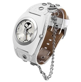 Skull Designed Leather Chain Analog Watch